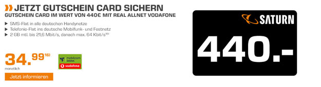 real Allnet Vodafone Saturn