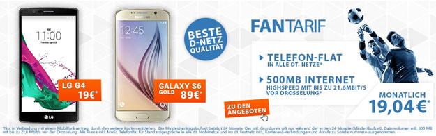 Schalke Fan Tarif mit LG G4