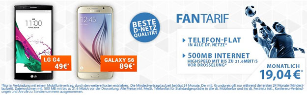 Schalke Fan-Tarif mit LG G4