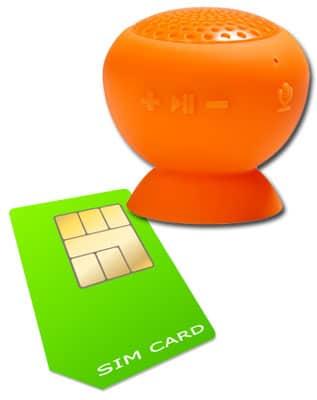 SIM-Karte Bluetooth mit Lautsprecher