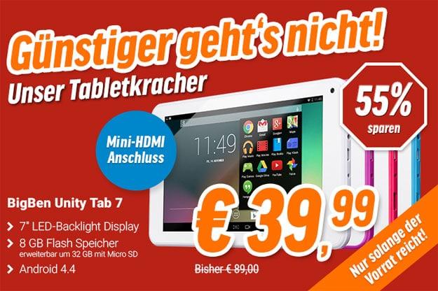 Tabletkracher BigBen Unity Tab 7