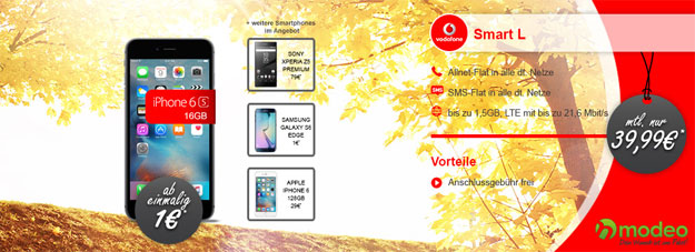 Vodafone Smart L mit iPhone 6S