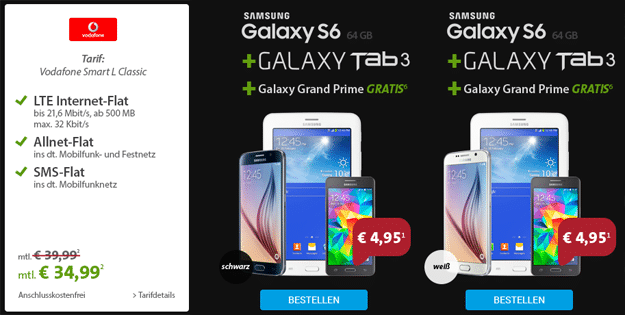Vodafone Smart L mit Samsung Galaxy S6