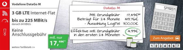 Vodafone DataGo M - 300 EUR Auszahlung