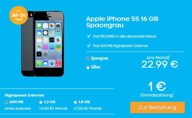 Allnetflat Blau.de mit iPhone 5s