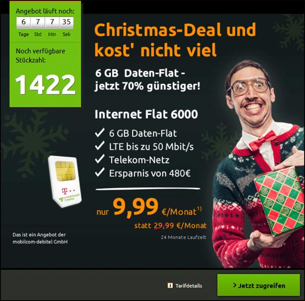 Crash 6 GB LTE für nur 9,99 €