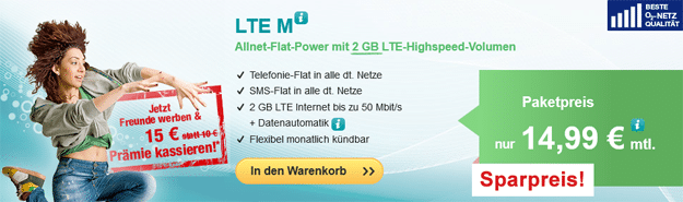 hellomobil LTE M für 14,99 €
