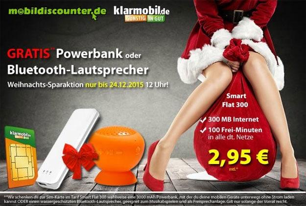 Klarmobil Smart Flat 300 für 2,95 € im Monat