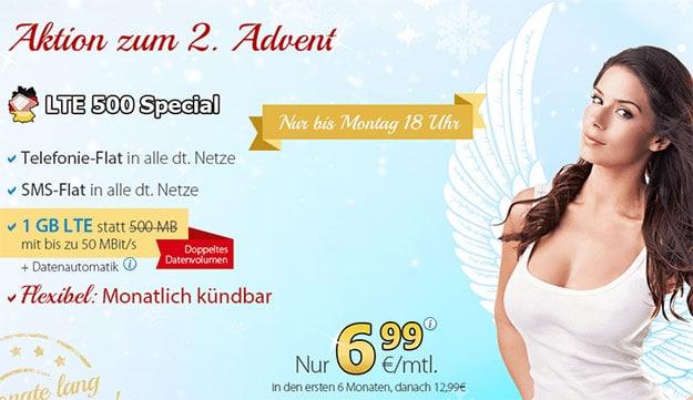 deutschlandSIM LTE 500 Special 1GB