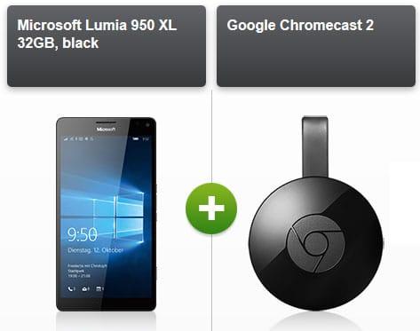 Microsoft Lumia 950 mit Google Chromecast 2