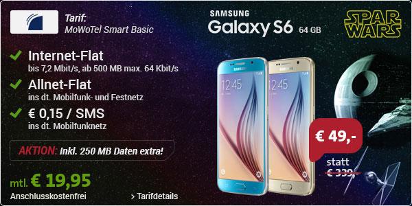 MoWoTel mit Samsung Galaxy S6 64GB
