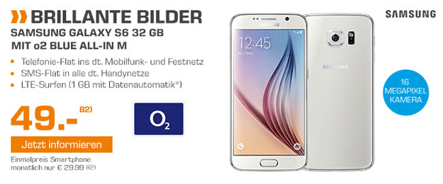 o2 All-in M mit Samsung S6