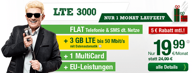 Smartmobil LTE 3000 im Dezember
