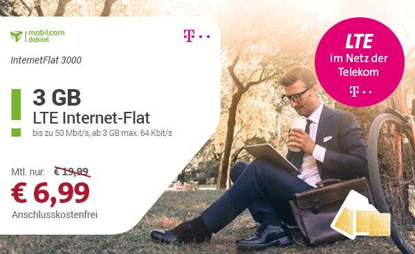 Telekom InternetFlat 3000 für 6,99 €