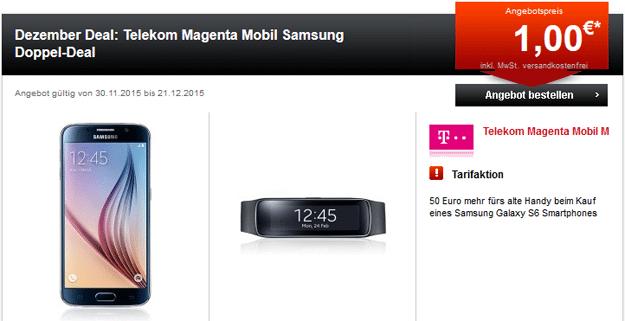 Telekom Magenta Mobil M mit S6 und Gear Fit