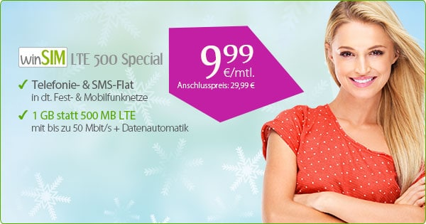 winSIM LTE 500 - Allnetflat