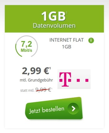 1GB Datenflat