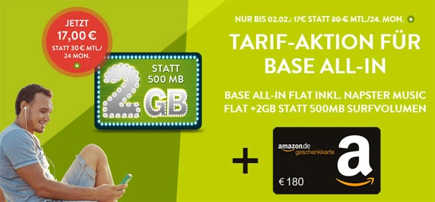 BASE all-in + 180 EUR Amazon-Gutschein