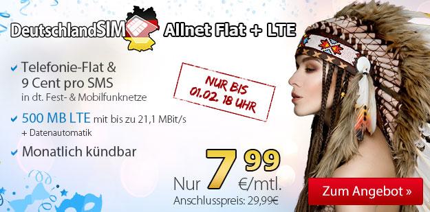 DeutschlandSIM Allnet-Flat 7,99 EUR