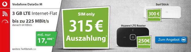 Vodafone DataGo M - 315 EUR Auszahlung