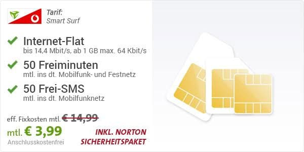 Vodafone Smart Surf - 3,99 EUR