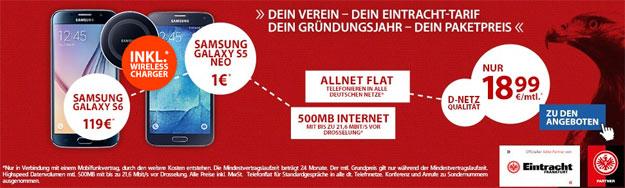 Eintracht Tarif mit Wireless Charger
