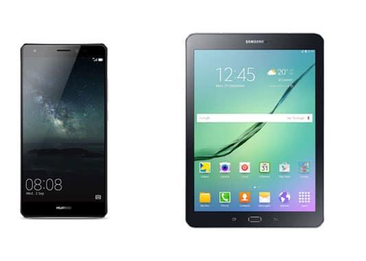 Huawei Mate S mit Tab S2