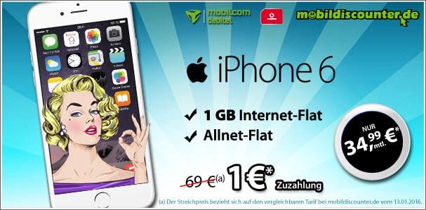 iPhone 6 mit Vodafone Comfort Allnet