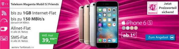 iPhone 6s mit Telekom Magenta Mobil S