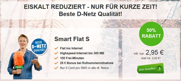 klarmobil Smart Flat für 2,95 €