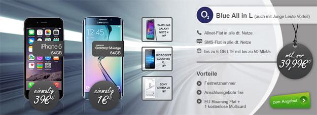 o2 Blue All-in L mit iPhone 6