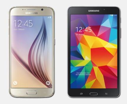 Samsung Galaxy S6 und Tab 4