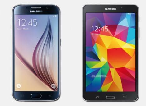 Samsung Galaxy S6 und Tab 4 (7.0)