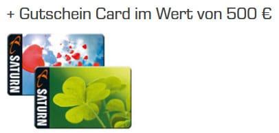 Saturn Gutschein Card 500 €