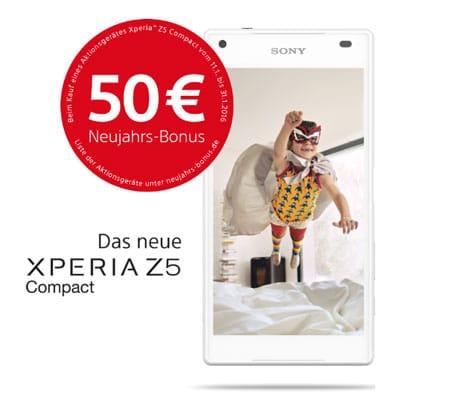 Sony Xperia Z5 Compact Neujahrsbonus