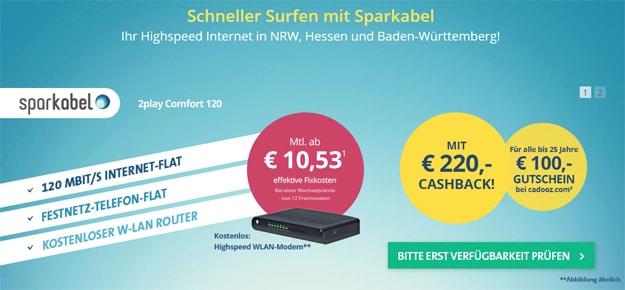 Sparkabel 220 € Cashback