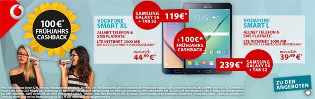 Vodafone Smart L mit Samsung Galaxy S6 & Tab S2 (8.0)