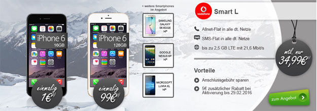 Vodafone Smart L mit iPhone 6
