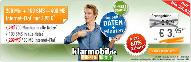 Klarmobil AllNet-Starter - Vodafone