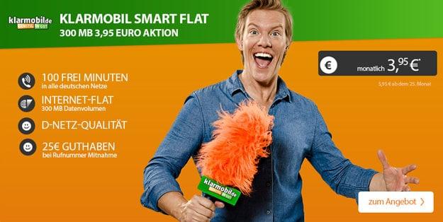 Klarmobil Smart Flat 300 - 3,95 EUR