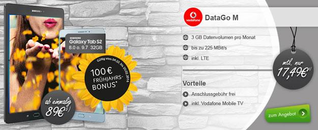 Samsung Galaxy Tab S2 + Datentarif Vodafone DataGo M