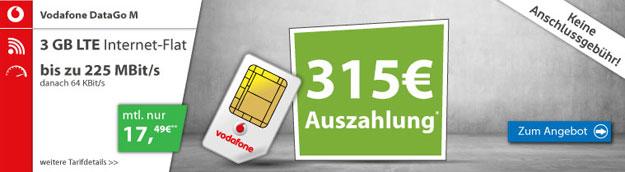 Vodafone DataGo M - Auszahlung