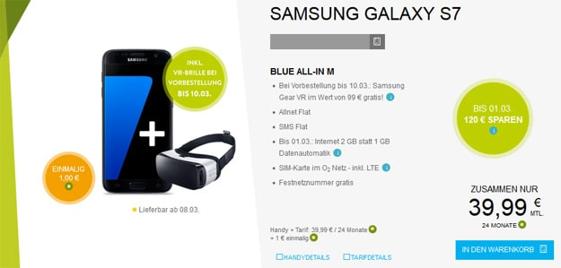 BASE Blue All-in M mit S7