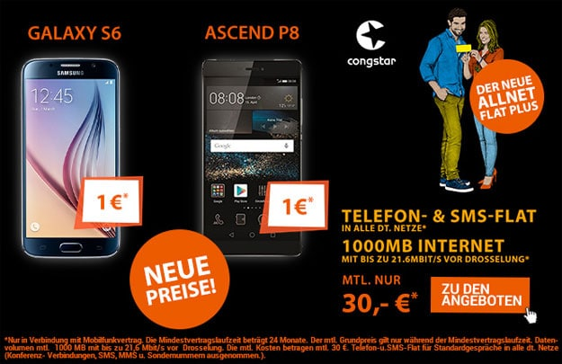 congstar Allnet Flat Plus mit Samsung Galaxy S6