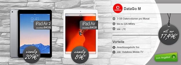 Vodafone DataGo M mit iPad Air 2 (B-Ware)