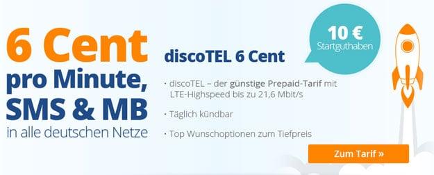 discoTEL LTE Prepaidtarif