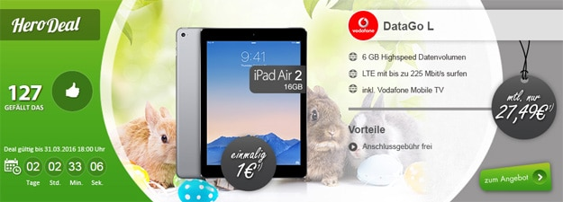 Hero Deal Data Go L mit iPad Air 2