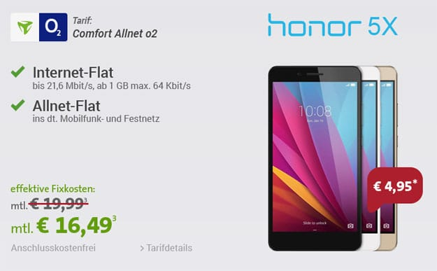 Honor 5X mit o2 Comfort Allnet
