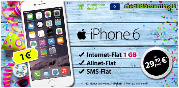 iPhone 6 mit real Allnet o2