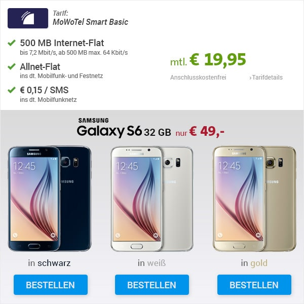 MoWoTel Smart Basic mit Samsung Galaxy S6